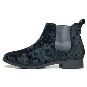 NEW Toms Crushed Velvet Chelsea Ankle Boots